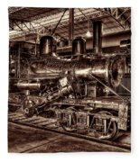 Old Climax Engine No 4 Fleece Blanket