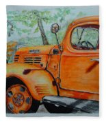 Old Dodge Truck At Patterson Farms Fleece Blanket