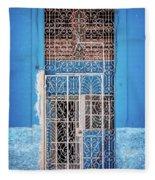 Old Door In Havana Fleece Blanket