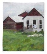 Old Farm Buildings Fleece Blanket