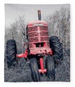 Old Farmall Farm Tractor Color Separation Nh Fleece Blanket