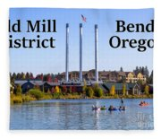 Old Mill District Bend Oregon Fleece Blanket