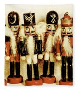 Old Nutcracker Brigade Fleece Blanket