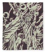 Old Nyc Decorations Fleece Blanket