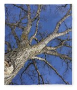 Old Oak Tree Fleece Blanket