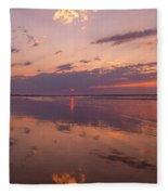 Old Orchard Beach Glorious Sunset Fleece Blanket