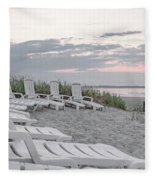 Old Orchard Beach Tranquil Morning Fleece Blanket