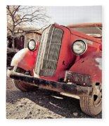 Old Red Truck Jerome Arizona Fleece Blanket