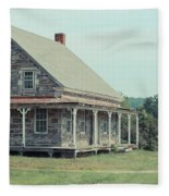 Old Stone Farm House Newbury Vermont Fleece Blanket