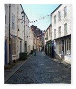 old town street in Hexham Fleece Blanket