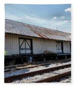 Old Train Depot In Gray, Georgia 2 Fleece Blanket