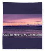 Olympic Mountains, Washington Fleece Blanket
