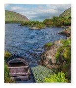 On A Lake Of Blue Fleece Blanket
