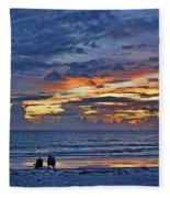 On A Quiet Beach With You Fleece Blanket