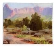 On The Chinle Trail Fleece Blanket