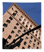 One Way Golden Architecture  Fleece Blanket