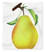One Yellow Juicy Pear Fleece Blanket