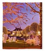 Opryland Hotel Christmas Fleece Blanket