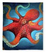 Optical Octopus Fleece Blanket