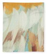 Orange #4 Fleece Blanket