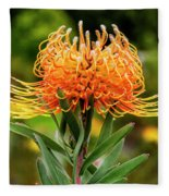 Orange Protea Fleece Blanket