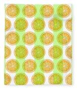 Orange Slice Pattern 2 - Tropical Pattern - Tropical Print - Lemon - Orange - Fruit - Tangerine Fleece Blanket