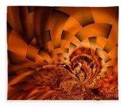 Orange Weave Fleece Blanket