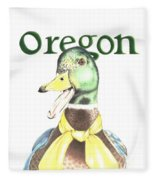 Oregon Duck Fleece Blanket