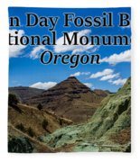 Oregon - John Day Fossil Beds National Monument Blue Basin Fleece Blanket