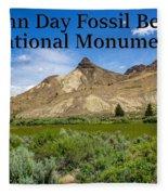 Oregon - John Day Fossil Beds National Monument Sheep Rock 1 Fleece Blanket