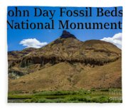 Oregon - John Day Fossil Beds National Monument Sheep Rock 2 Fleece Blanket