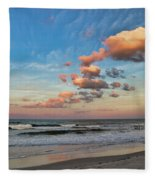 Ormond Beach Sunset Fleece Blanket
