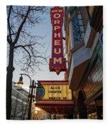 Orpheum Theater Madison, Alice Cooper Headlining Fleece Blanket