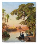 Outskirts Of Cairo Fleece Blanket