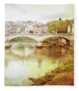 Over The Tiber Fleece Blanket