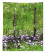 Overcome With Beauty Fleece Blanket by Rick Furmanek