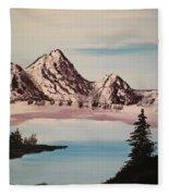 Overlooking The Lake Fleece Blanket