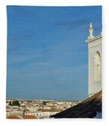 Overview Of Tavira City. Portugal Fleece Blanket