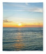 Pacific Ocean Sunset Fleece Blanket