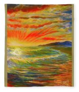 Pacific Sunset Fleece Blanket