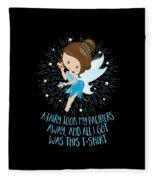 Pacifier Fairy Gift Idea Paci Fairy For Girlsboys Fleece Blanket