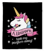 Pacifier Fairy Gift Idea Unicorn Took My Paci Away Fleece Blanket