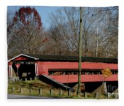 Painted Bridge At Chads Ford Pa Fleece Blanket