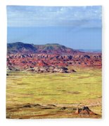 Painted Desert Panorama Fleece Blanket