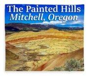 Painted Hills 01 Fleece Blanket