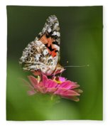 Painted Lady Butterfly At Rest Fleece Blanket