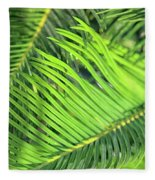 Palms In Light And Shadow Fleece Blanket