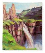Palouse Falls Rush Fleece Blanket