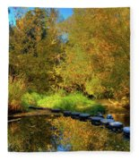 Palouse River Reflections Fleece Blanket
