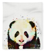 Panda Watercolor Fleece Blanket